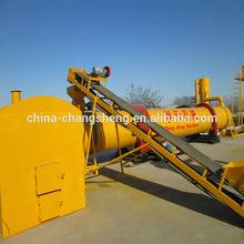 800 kg/h capacidad de aserrín secador de tambor rotatorio, con horno, transportador de tornillo, ciclón