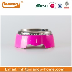 Pink Stainless Steel cat bowl