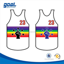 Fashion style customized sublimated new custom basketball jersey,new custom basketball top