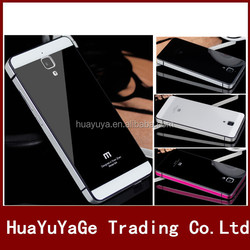 phone cases Aluminum Metal Tempered Glass Case back cover for xiaomi Mi4 M4