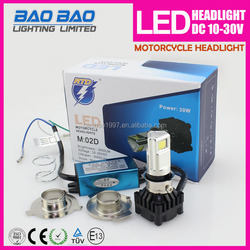 M02D Newest Sliver motorcycle led headlight kit,universal used for all motorcycle---BAOBAO LIGHTING