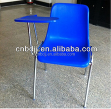 durable plastic chair with writing pad, student study training chair with tablet school chair furniture for sale