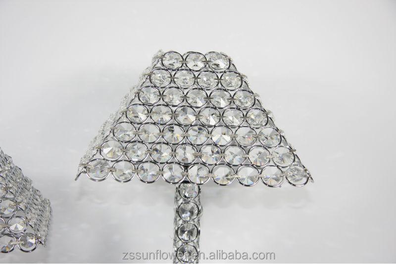 Lamparas de mesa de noche de hierro cristal candelabros de cristal ...