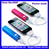 Colourful portable 1000ma universal power bank