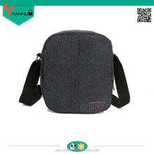 new fashion wholesale portable vintage leisure small men blank canvas shoulder bag simple design contracted