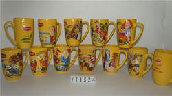 Stoneware Lipton mug with yellow glazing