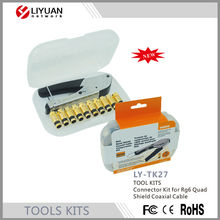 LY-TK27 Connector TOOL KIT for Rg6 Quad Shield Coaxial Cable