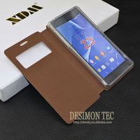 hot selling shockproof and waterproof case for sony xperia z3, For Sony Xperia Z3 Compact Flip Leather Case
