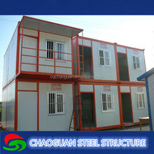 china alibaba modern 20ft used container homes with wheels, sandwich panel prefab modular house
