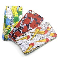 3D So cute bird custom design hard pc cellphone case for iPhone I5 I6s plus at factory price