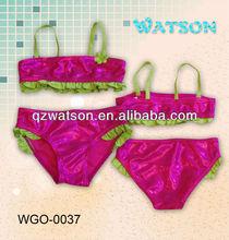 red bikini children swimwear tankini beachwear