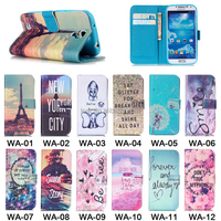 12 Patterns Colorful Cover For Samsung Galaxy S4 Wallet Flip Case