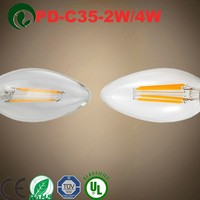PD-Lamp glass candle globes led filament bulb c35 6w e14 lowest price the last month of 2015