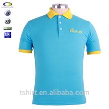 2015 diseño de la combinación de color 100 de algodón camiseta del polo