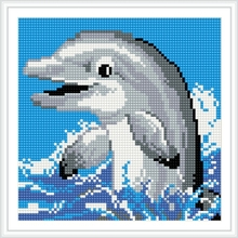 BZ022 lovely dolphin animal 5D diamond painting for summer