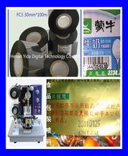 "Digital printing machine foil ""roll on"" hot stamp of expiring date 30mm*100"