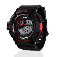 skmei sports dive watch,50m/5ATM deep water proof/resistant for swimming, time/date/alam/back light