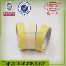 Crepe paper masking adhesive tape , heat resistant masking tape China supplier