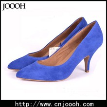 Factory price sheep leather women stylish high heel shoes for office lady