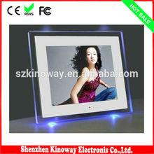 De montaje en pared 12'' multi- funcional marco de fotos digital de la venta caliente de regalo de china