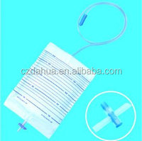 Albaba disposable cross valve urine collection bag Chinese medical device