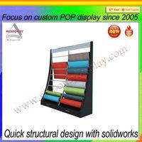 floor standing show room rug rack displays