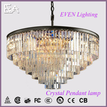 Contemporary design luxury villa living room decoration K9 crystal large pendant light