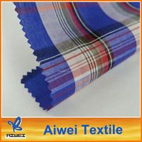 Wholesale Stock Yarn Dyed 100 Cotton Check Fabric School Uniform