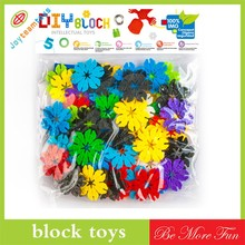 Interesting puzzle block leaves snowflakes assembled block