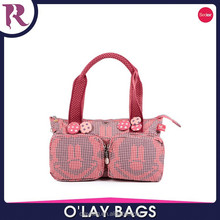 New fashion cute hand bag with two pockets,shoulder bag for girls