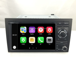 dvd car audio navigation system for Audi A4 S4 RS4 with can bus apple UI WS-8745