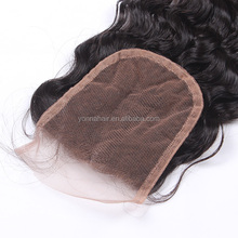 Top grade best sell 100% natural indian virgin part hair closures