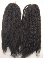 High Quality Kinky Twists Synthetic Marley Hair Braid,Kanekalon Marley Afro Twist Braiding Synthetic Hair Extensions