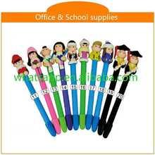 Design Cartoon Polymer Clay Ball Pen For Gifts commercial pen