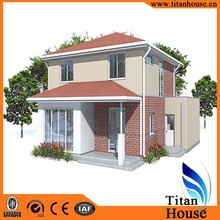 Afforable Beautiful Modern Design Light Gauge Steel Frame Prefabricated Residential House