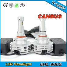 China manufacturer high quality 9005 led car headlight bulb canbus function auto led headlight with 5 colors