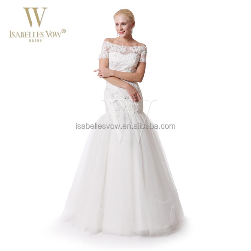 Wedding Dresses Wholesale : Wholesale price wedding gowns elegant off the shoulder lace