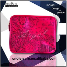 Pink Satin 11.6 inch shining laptop sleeve for women
