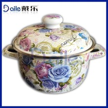 5pcs same quality and safty cast iron cookware enamel coated enamelware