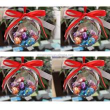 decorative hanging clear plastic balls for wedding decoration