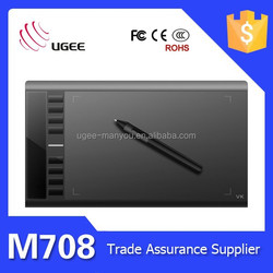 Factory price Ugee M708 10x6 inches 2048 levels 5080lpi digital writing tablet