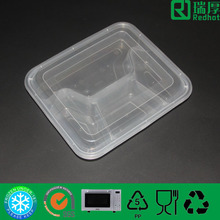 disposable clear plastic takeaway microwave pp 4 compartment fast food container with lid