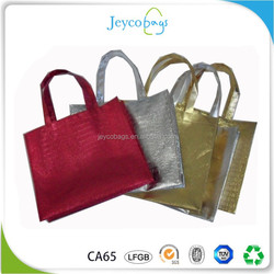 JEYCO BAGS Custom colorful aluminium foil metallic laminated reusable non woven shopping bag
