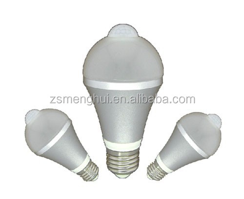 high quality e27 outdoor led motion sensor bulb 5w 7w. Black Bedroom Furniture Sets. Home Design Ideas