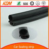 Car trim flexible glass edge strip for door & window