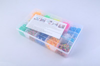 Rainbow Color DIY Band Kit Bracelet/Loo Band Set/DIY Loon bands with original 15 cases