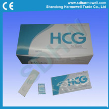 Hot sell china CE approved urine medical / home hcg pregnancy test kit