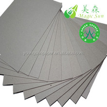 recycled board 3mm thickness grey card/high quality gray paperboard