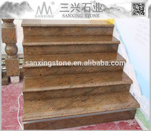 Natural de pedra interior anti slip escadas granito azulejo 60 x 60