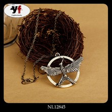 Popular Movie Jewelry Mocking Bird The Hunger Game Pendant Necklace